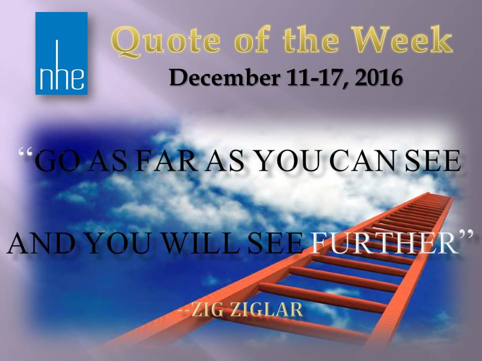 Quote of the Week December 11-17, 2016