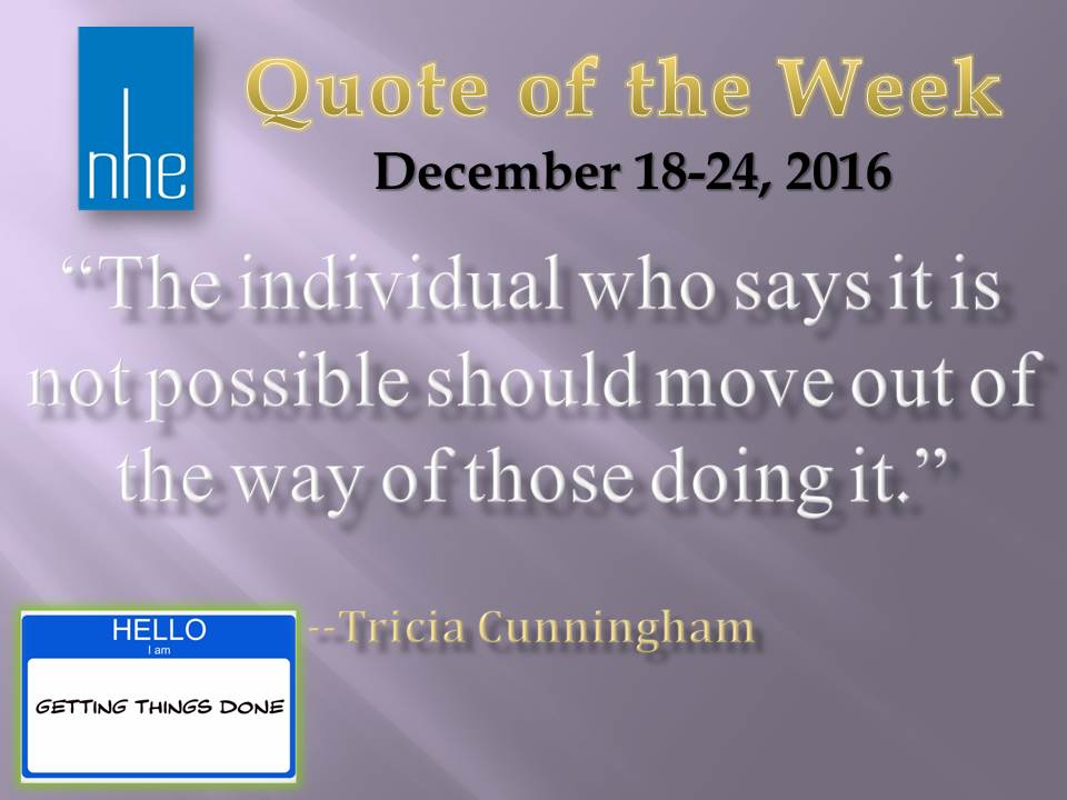 Quote of the Week December 18-24, 2016