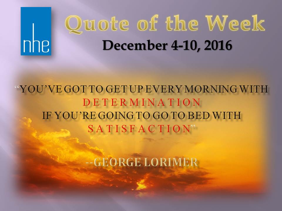 Quote of the Week December 4-10, 2016