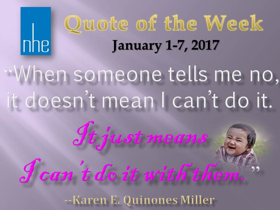 Quote of the Week January 1-7, 2017
