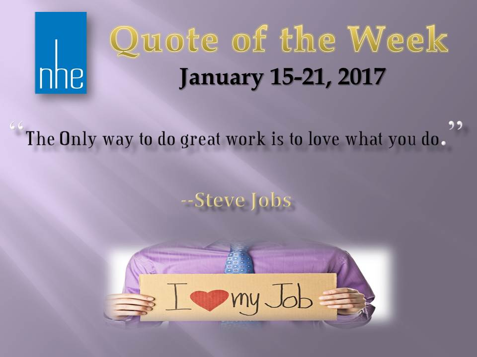 Quote of the Week January 15-21, 2017