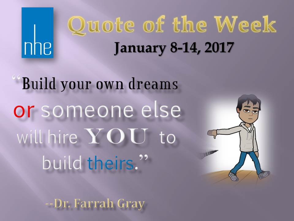 Quote of the Week January 8-14, 2017