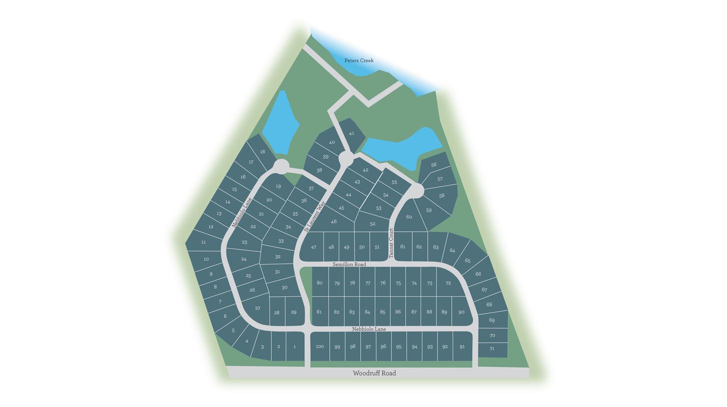 Chastain Glen - siteplan